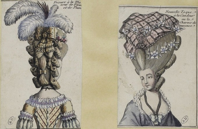 women's hairstyles & cosmetics of the 18th century: france