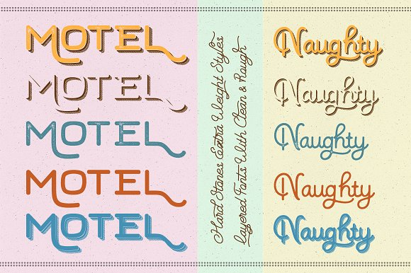 Hard Stones Sans Strip Font