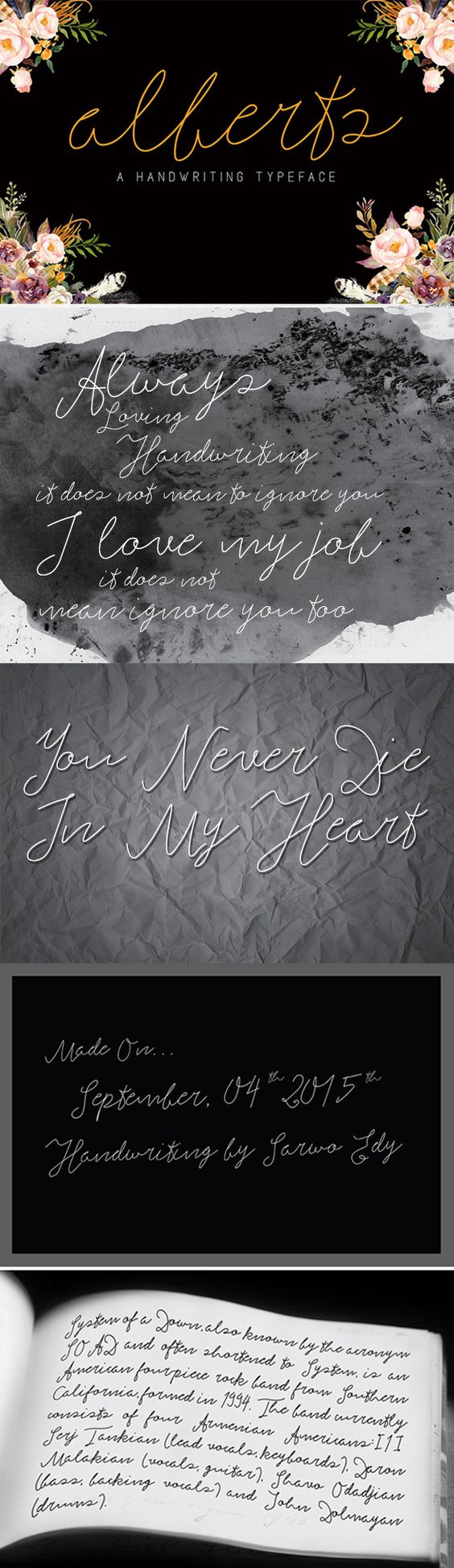 Alberts Script Font