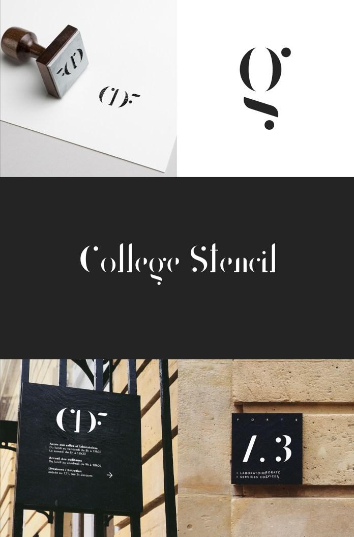 College Stencil Font