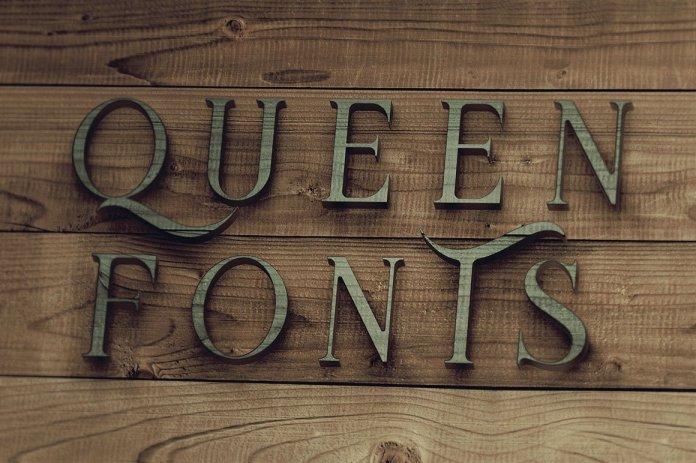 Queen Display Font