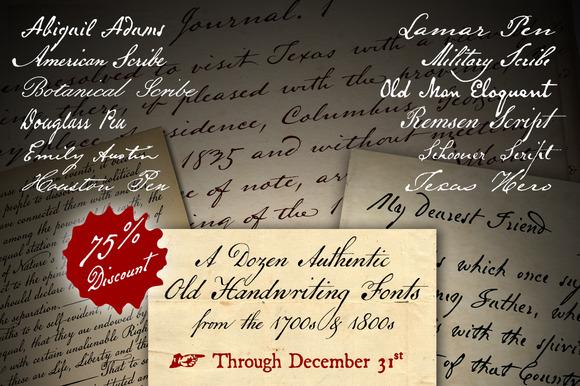 Historical Pens Font Family