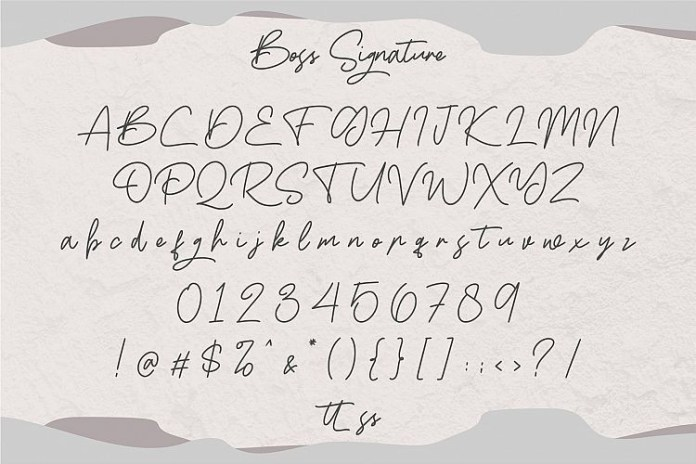 Boss Signature Font