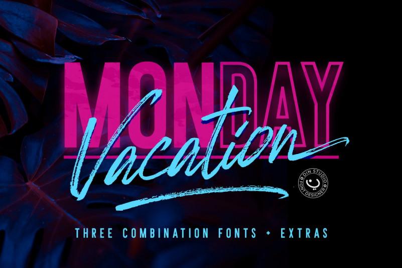 Monday Vacation Script Font - Demofont.com
