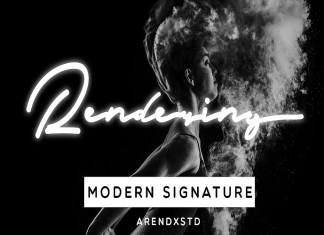 Rendering Signature Font
