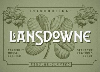 Lansdowne Font