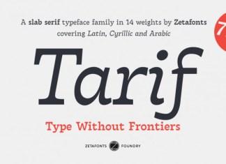 Tarif Arabic Font