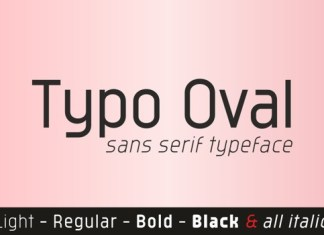 Typo Oval Font
