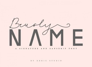 Brusly Name Font
