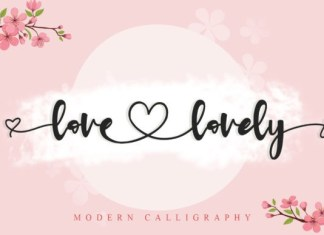 Love Lovely Font