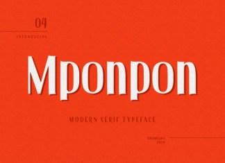 Mponpon Font