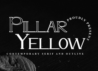 Pillar Yellow Font