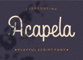 Acapela Font