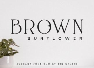 Brown Sunflower Font