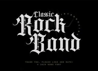Classic Rock Band Font