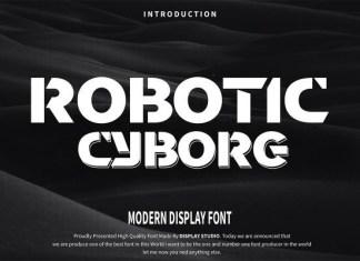 Robotic Cyborg Font
