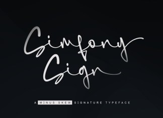 SimfonySign Font