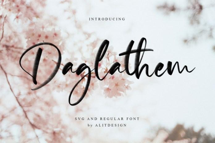 Daglethem Font