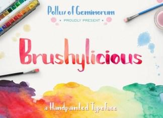 Brushylicious Font