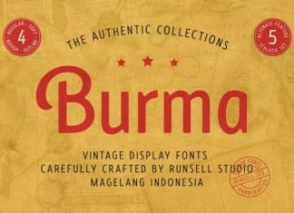 Burma Vintage Font
