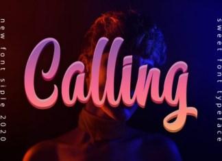 Calling Font