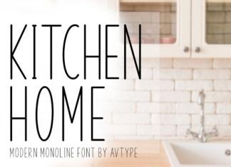 Kitchen Home Font