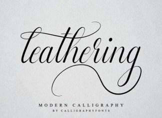 Leathering Font