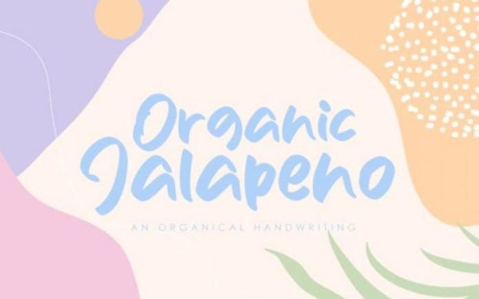 Organic Jalapeno Font