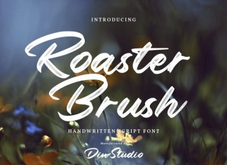 Roaster Brush Font