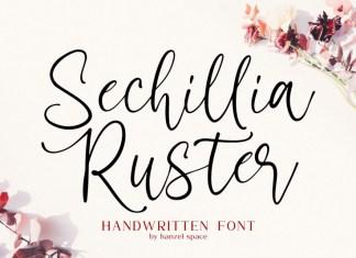 Sechillia Ruster Font