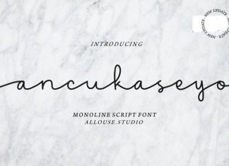 Ancukaseyo Font