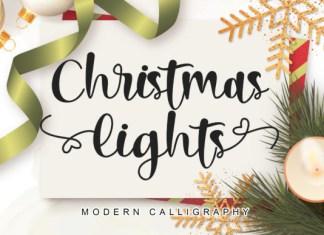 Christmas Lights Font
