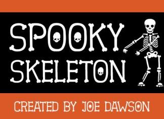Spooky Skeleton Font