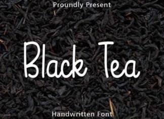 Black Tea Font