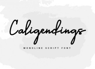 Caligendings Font