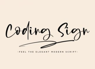 Coding Sign Font