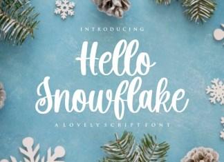 Hello Snowflake Font