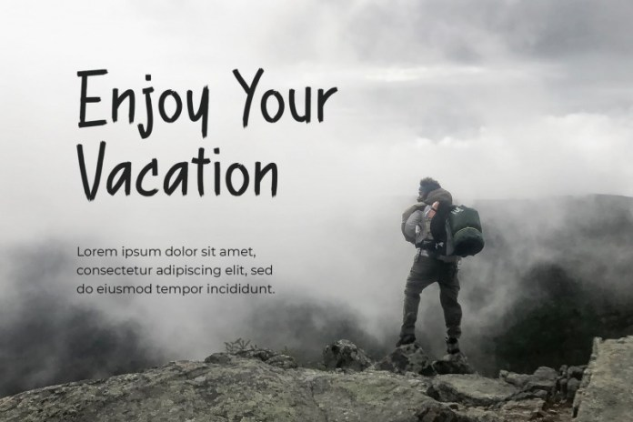 View Vacation Font