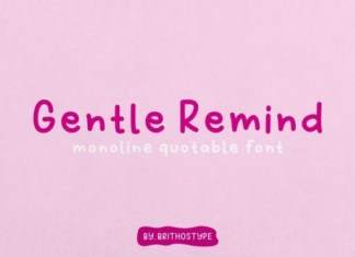 Gentle Remind Font