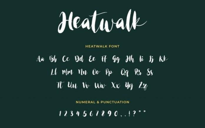 Heatwalk Font