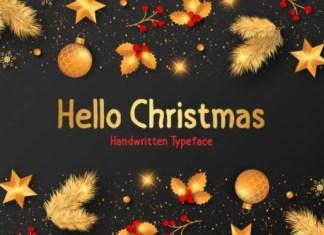 Hello Christmas Font
