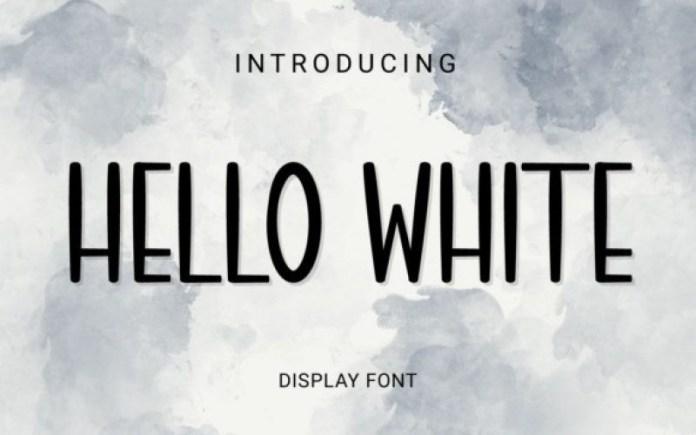 Hello White Font