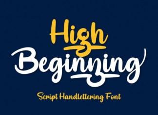 High Beginning Font