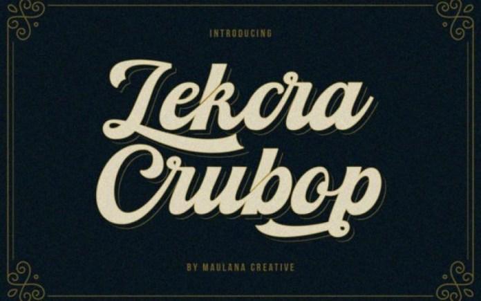 Lekcra Crubop Font