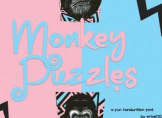 Monkey Puzzles Font