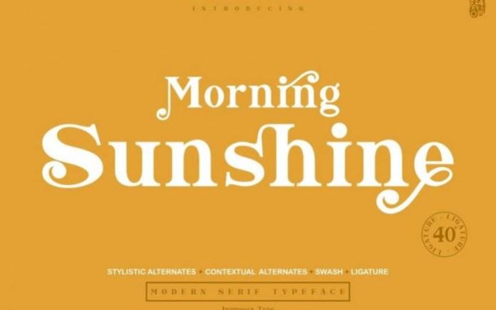 Morning Sunshine Font