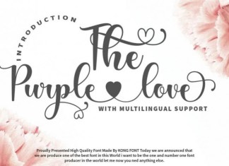 The Purple Love Font