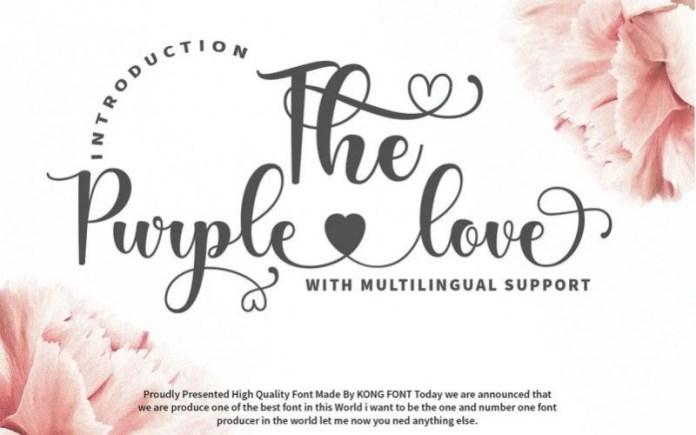 The Purple Love Font