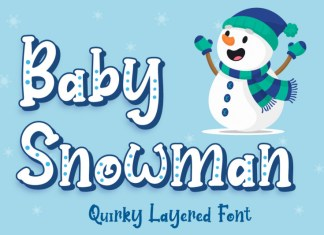 Baby Snowman Font