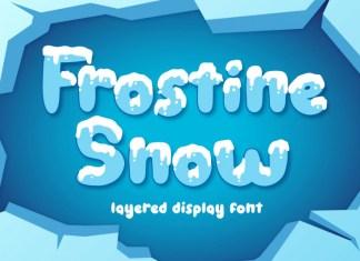 Frostine Snow Font